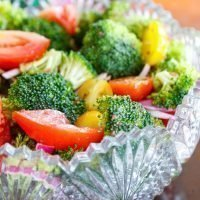 Broccoli and Tomato Salad with Red Onion