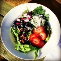 Berry Salad with Honey Balsamic Dressing