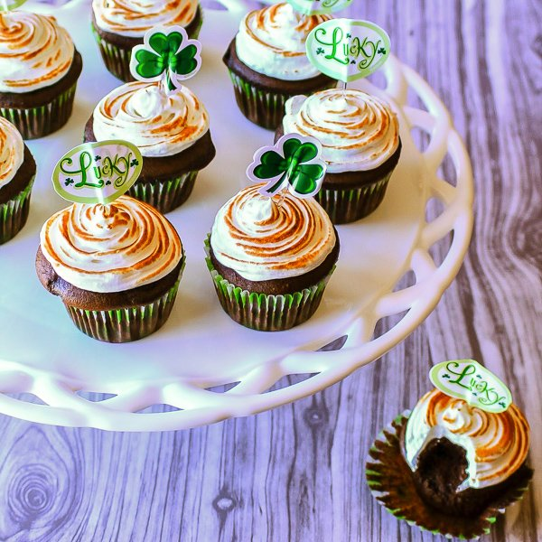 These dark chocolate Guinness cupcakes are the perfect way to celebrate St. Patrick's Day or any day you need your dark chocolate and dark beer fix