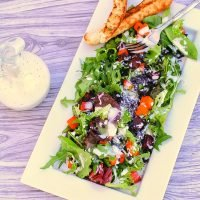 Sunset Salad with Black Rice