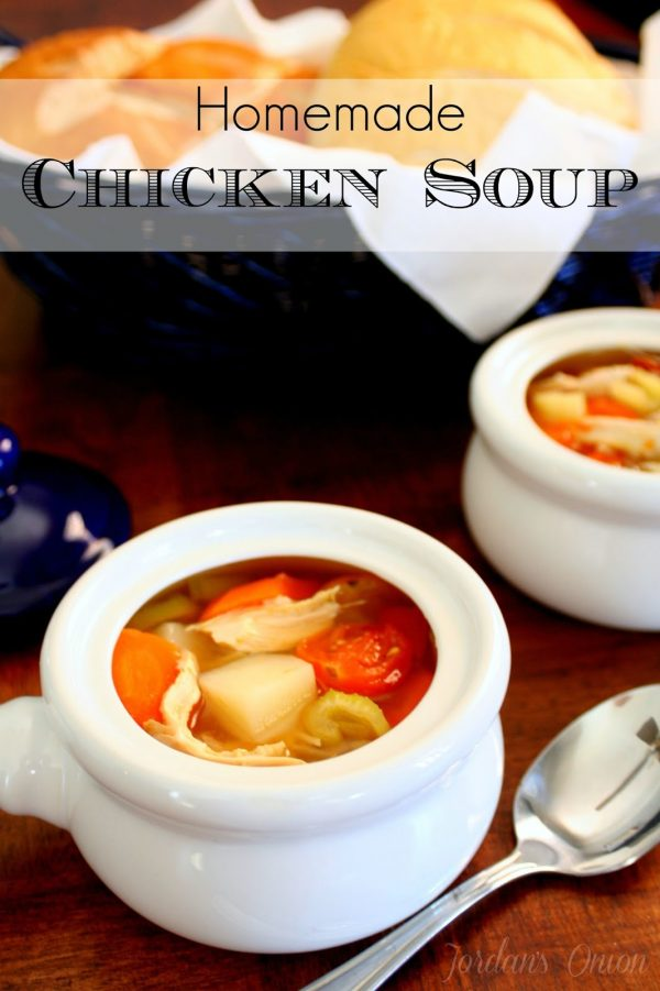 This homemade chicken soup is easy to make and perfect for the cold weather