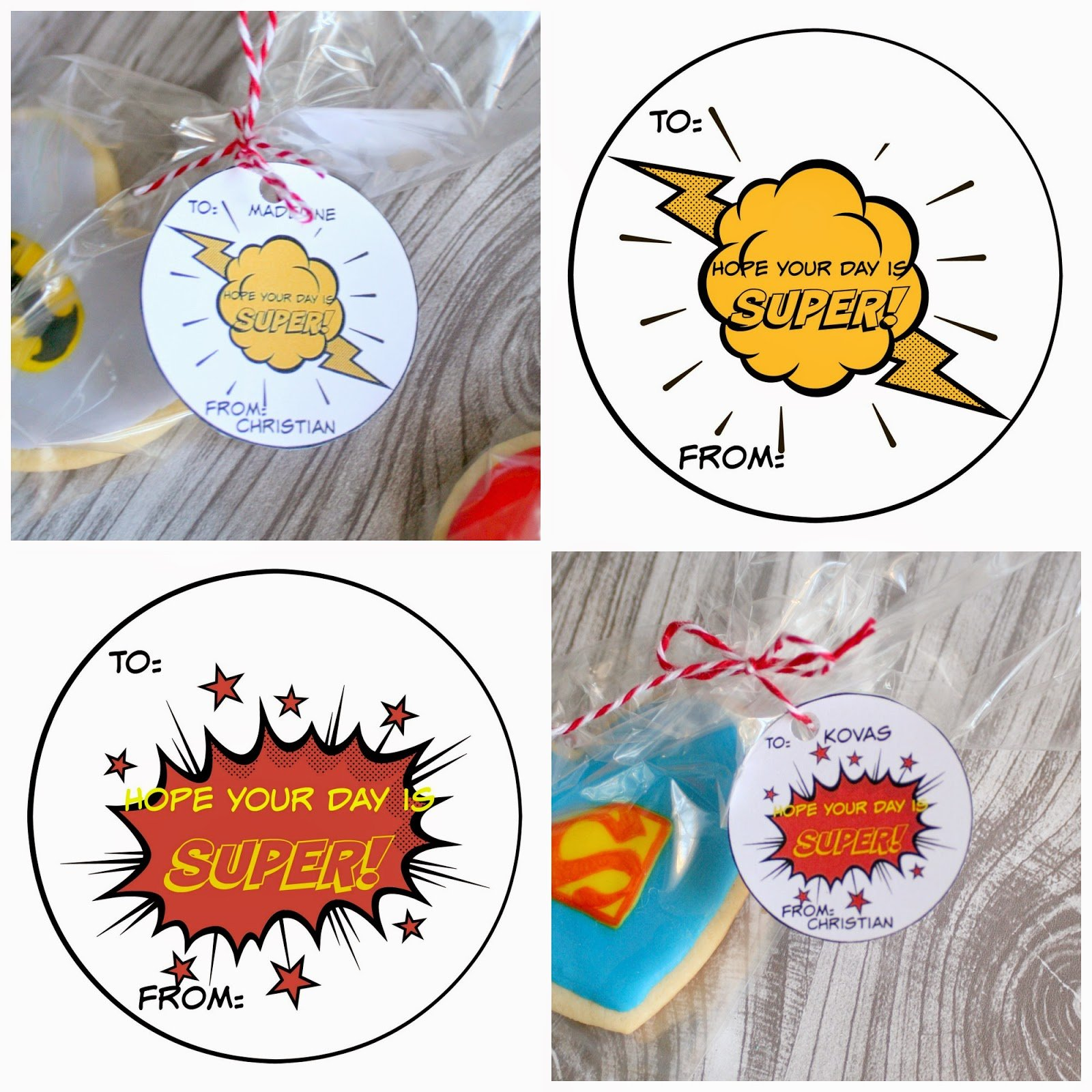 Superhero Sugar Cookies with free printables | jordanseasyentertaining.com #superman #spiderman #batman #greenlatern