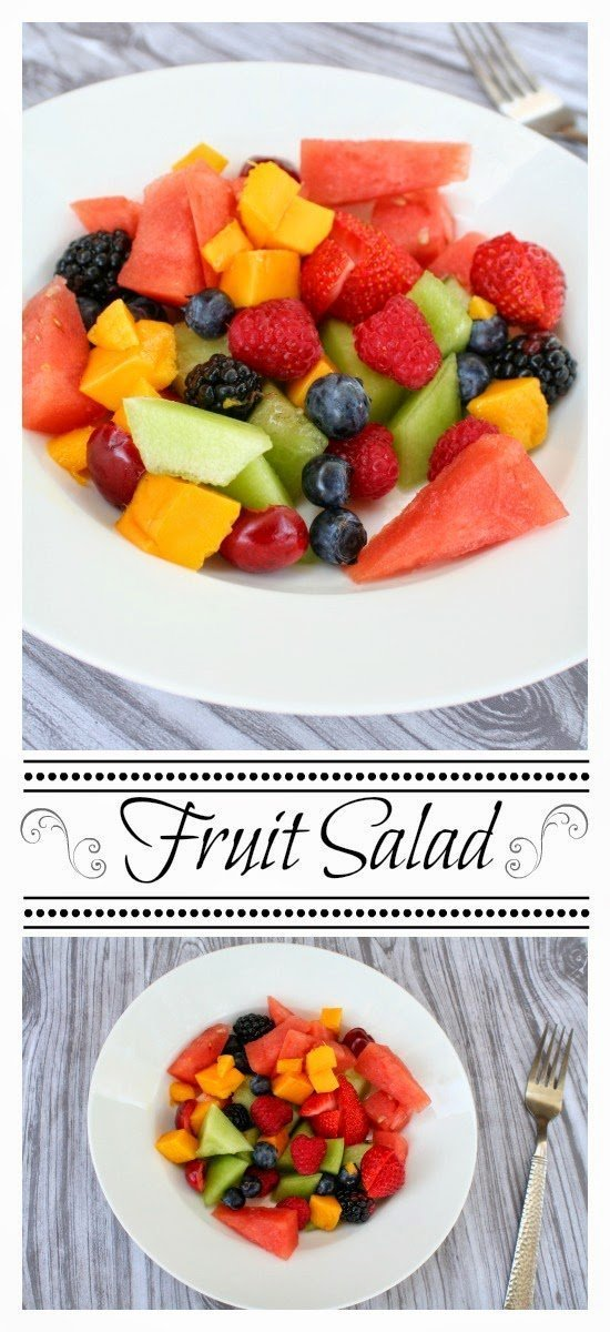 Fruit salad - a yummy assortment of fruit tossed together | Jordan's Onion