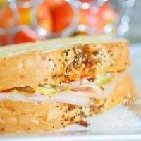 Turkey and Apple Sandwich with Cheddar