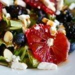 Blood Orange, Berry, and Feta Cheese Salad