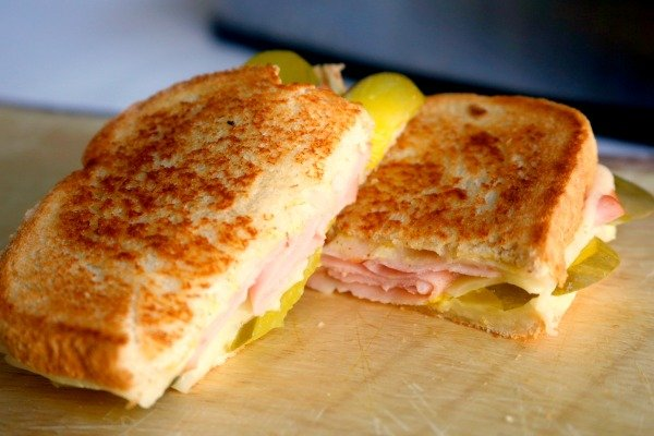 ham and pickle grilled cheese sandwich makes a quick and yummy lunch