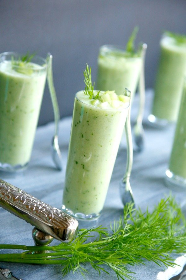 These cucumber melon shooters are a quick, easy, and elegant appetizer for your next party.