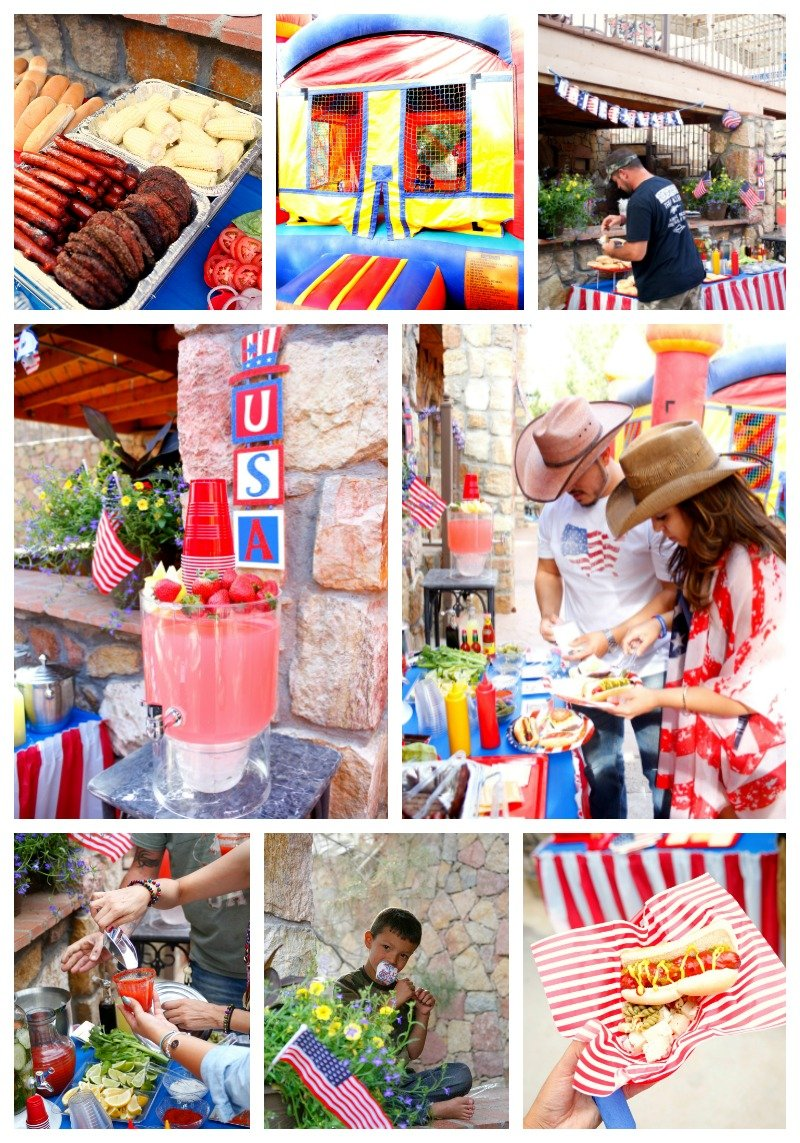 Get inspiration for your 4th of July party with these fun red white and blue ideas