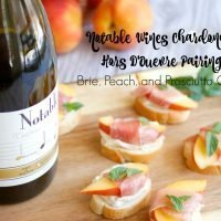 Brie, Peach, and Prosciutto Crostini
