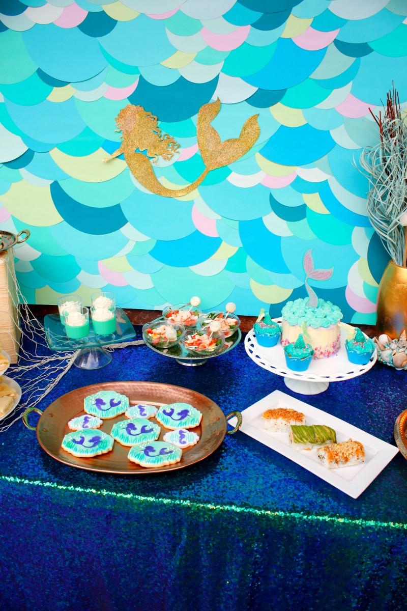 DIY Mermaid Backdrop Tutorial – Jordan's Easy Entertaining