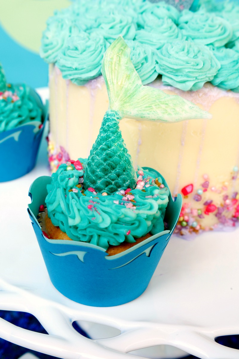 How to Make Mermaid Tail Cupcakes Jordans Easy Entertaining