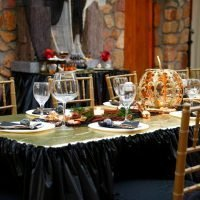 Black and Gold Halloween Dinner Party