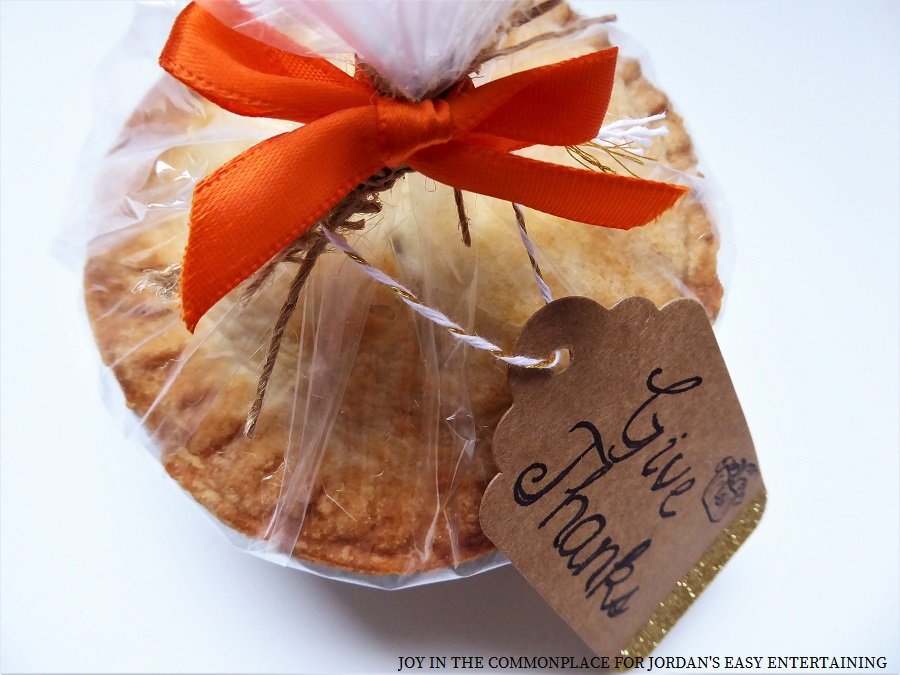 Gift Tag Mini Caramel Apple Pie Party Favors