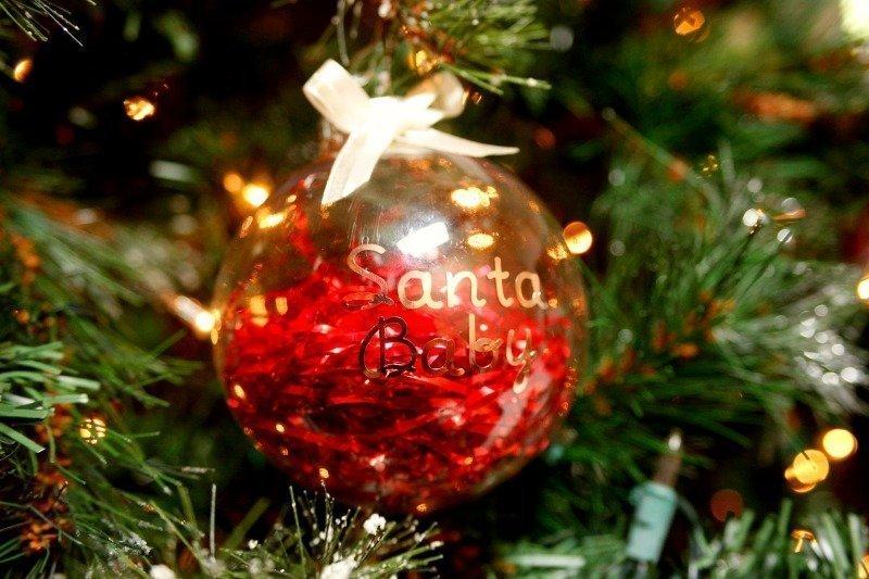 Quot Santa Baby Quot Cricut Christmas Ornament Jordan S Easy