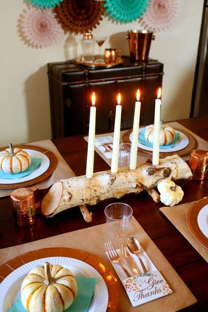 Here's a fun and festive #friendsgiving table setup from Jordan's Easy Entertaining [sponsored]