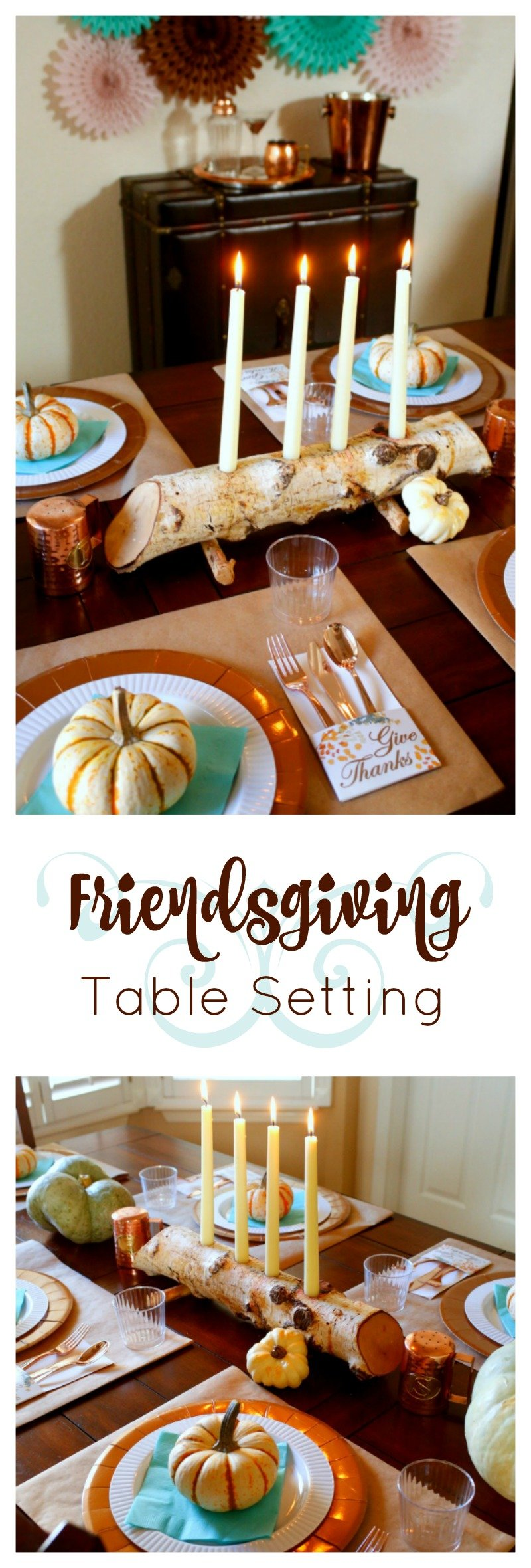 Host a fun and festive #friendsgiving with these table setting ideas from Jordan's Easy Entertaining [sponsored]