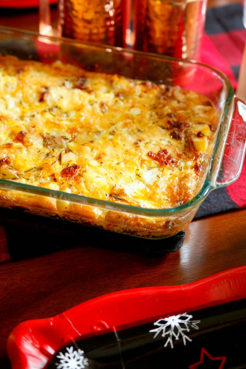 Do breakfast the easy way with a make ahead egg and sausage casserole