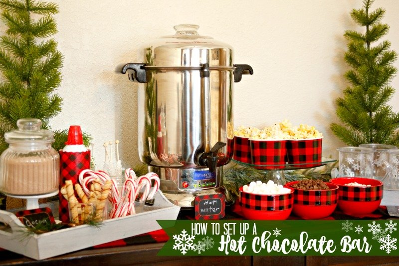 How to set up a hot chocolate bar