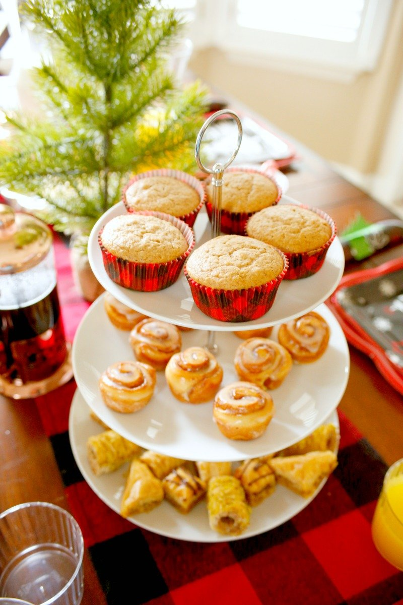 Love these buffalo plaid cupcake liners for Christmas morning muffins #orientaltrading