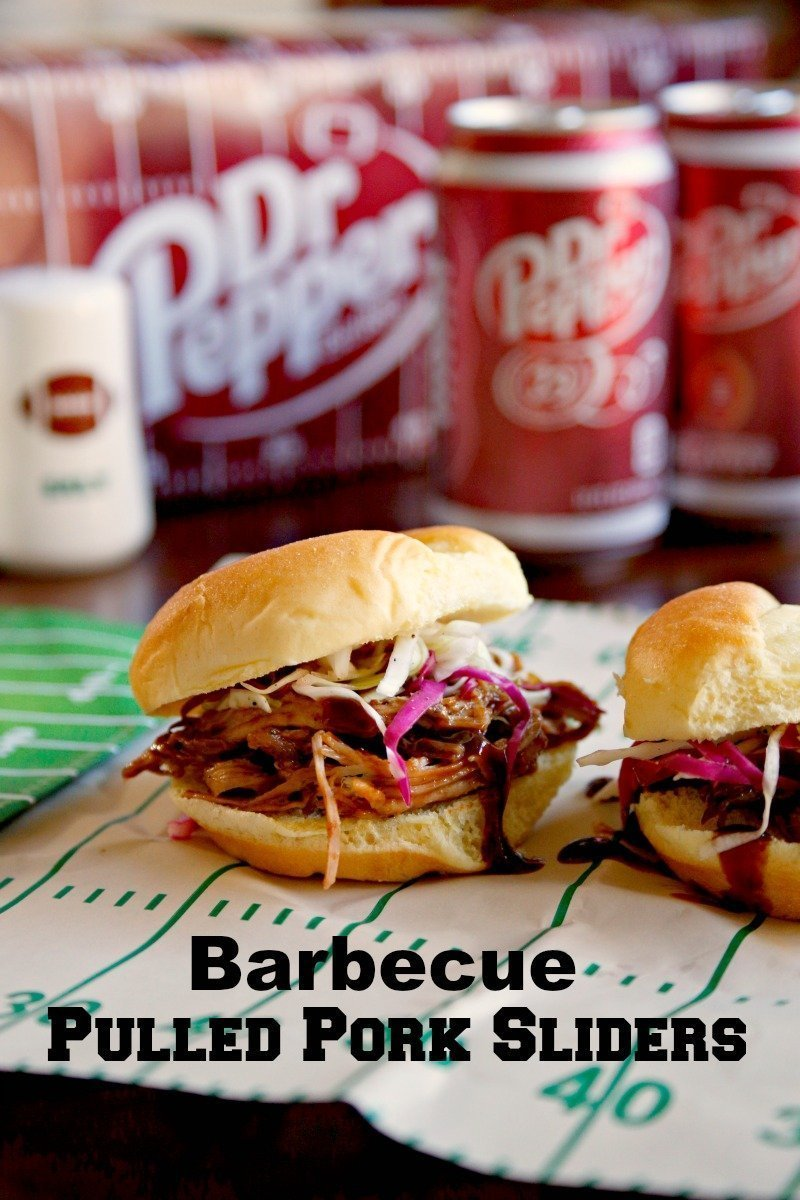 barbecue pulled pork sliders for as football party foods
