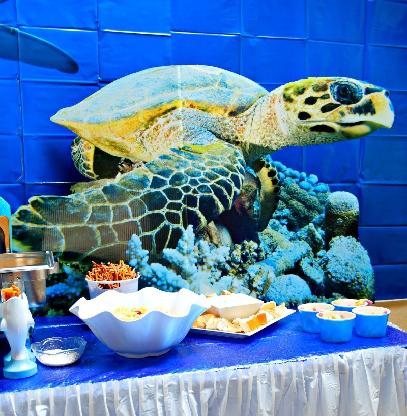 Sea Turtle cardboard cutout to add a special touch to any underwater themed party #OrientalTrading #sharkparty