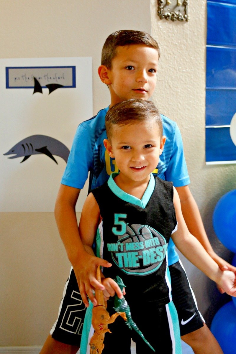 Kids having fun at an awesome shark party! #sharkparty