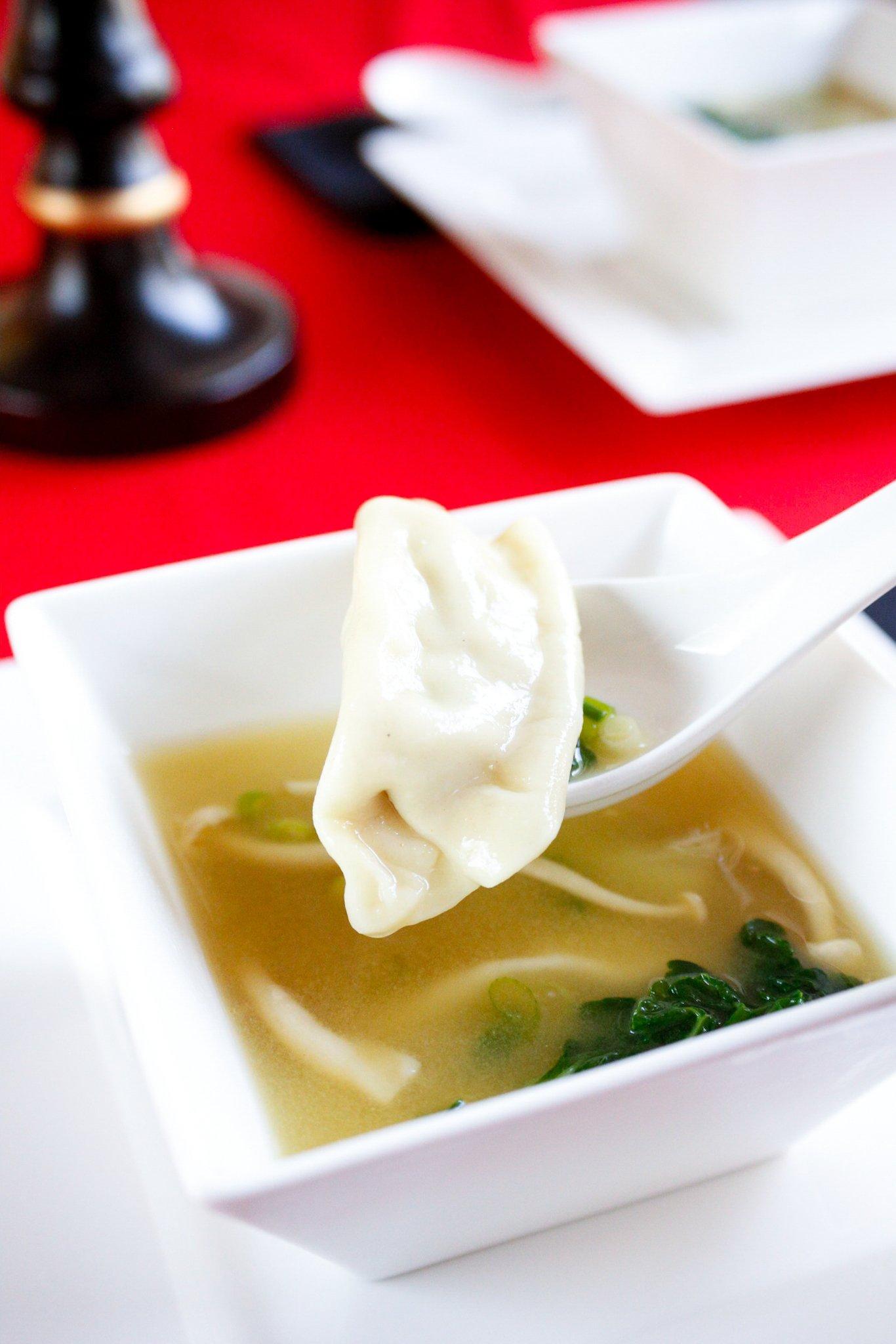 Chinese Dumpling Soup