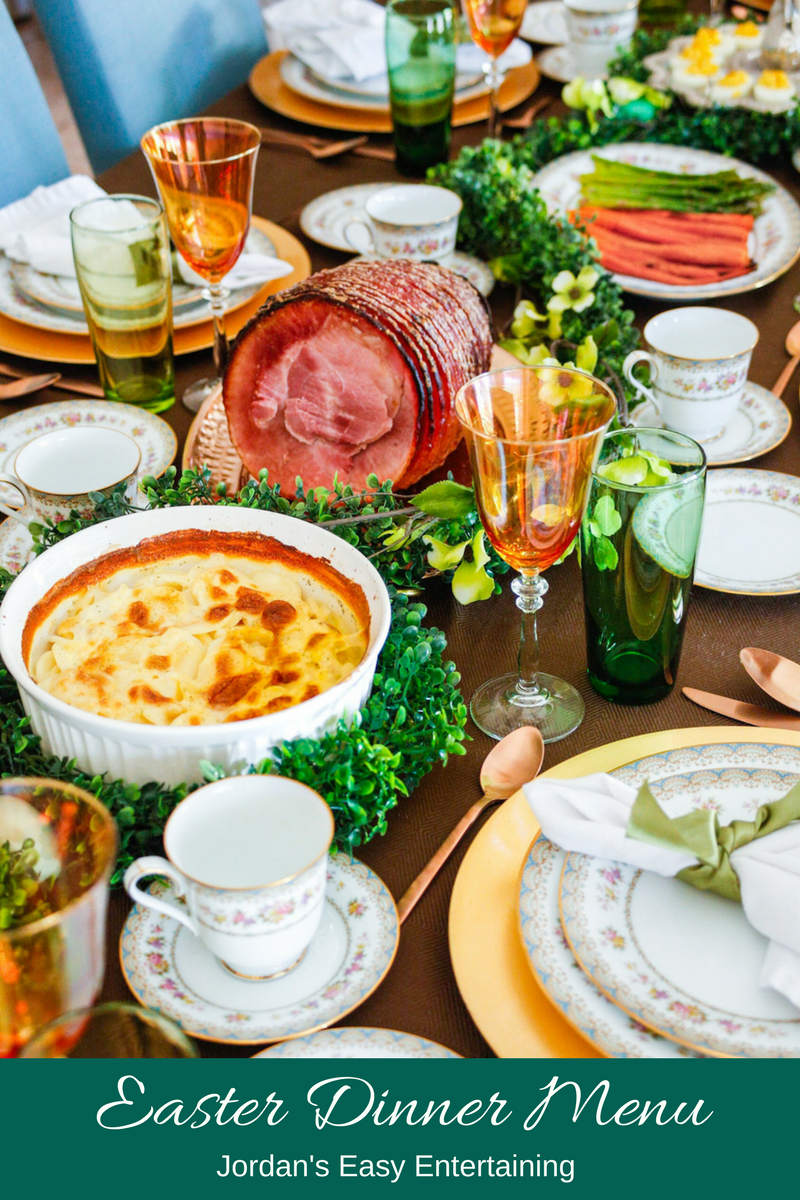 This Easter dinner menu and serving suggestions will help you with your holiday entertaining plan. - Easter entertaining | Easter food traditions | Easter traditions