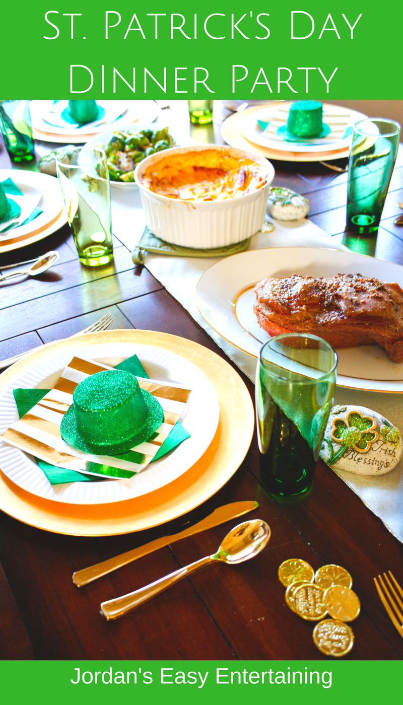 Host a fun St. Patrick's day dinner party with these decorating and menu ideas
