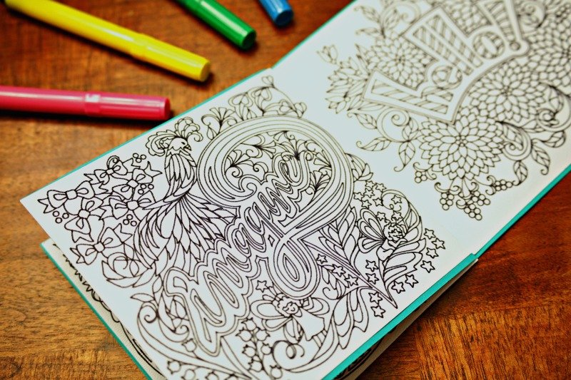 Create your own coloring book with adult coloring pages available in Cricut Design Space #CricuteMade #CricutMaker #adultcoloringpages