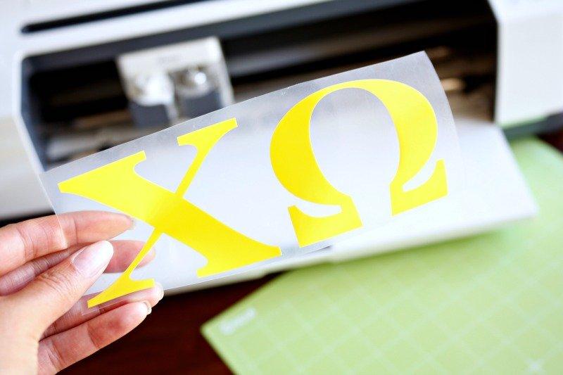 Easy DIY Sorority Letter T-Shirt with Cricut SportFlex Iron