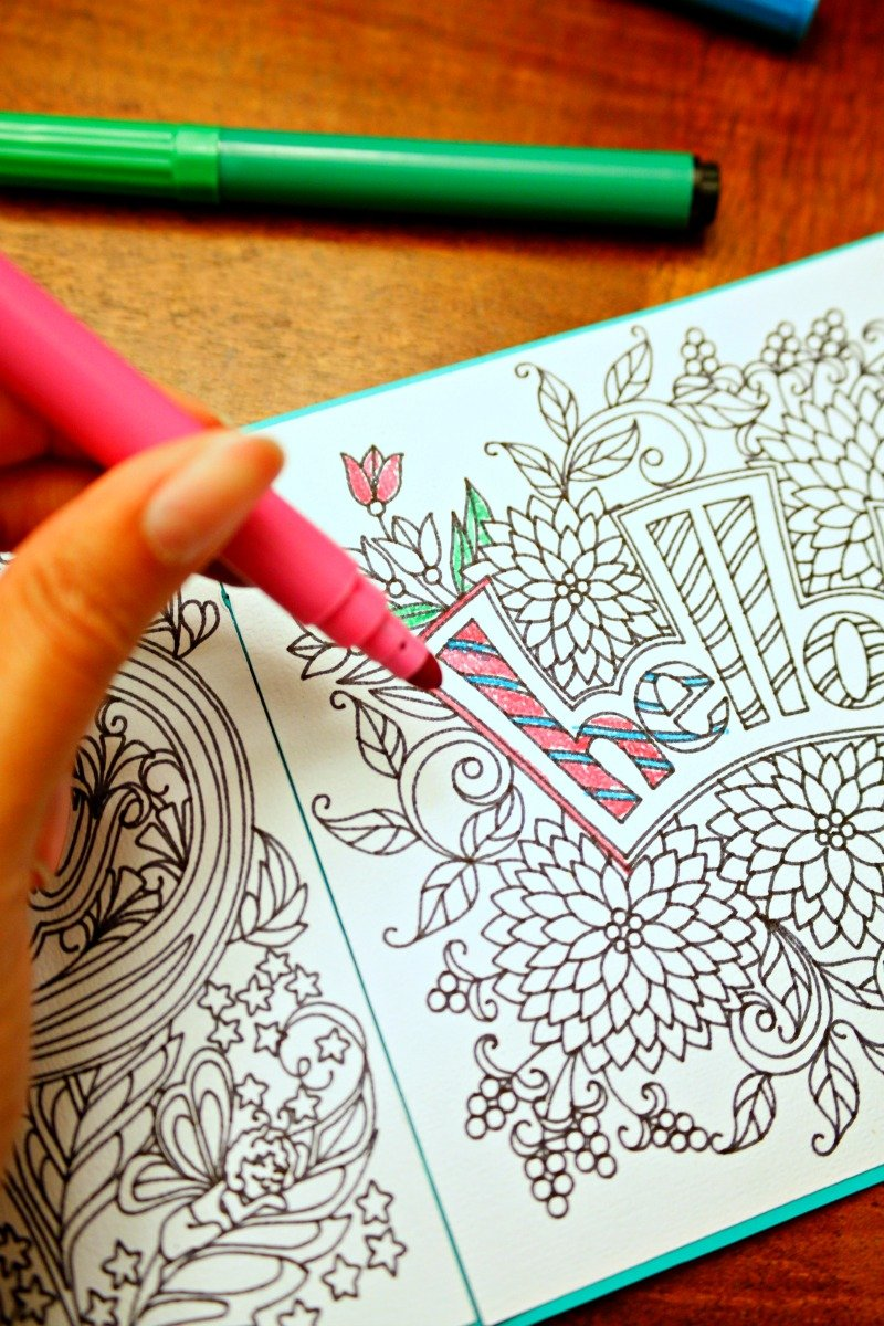 Make your own adult coloring book with beautiful adult coloring pages through this easy to follow tutorial #CricutMade