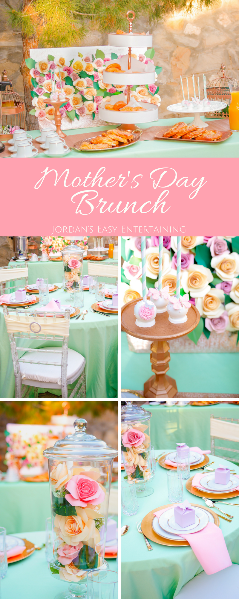 If your celebrating Mother's Day Brunch at home this year, here are some beautiful ideas for your party. Included are Mother's Day brunch table setting ideas and a Mother's Day brunch menu.