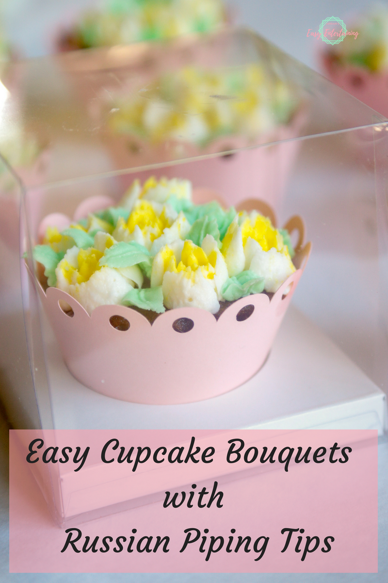 You don't have to be a professional baker to make these gorgeous easy cupcake bouquets at home when you use Russian piping tips! Check out this tutorial to see how!