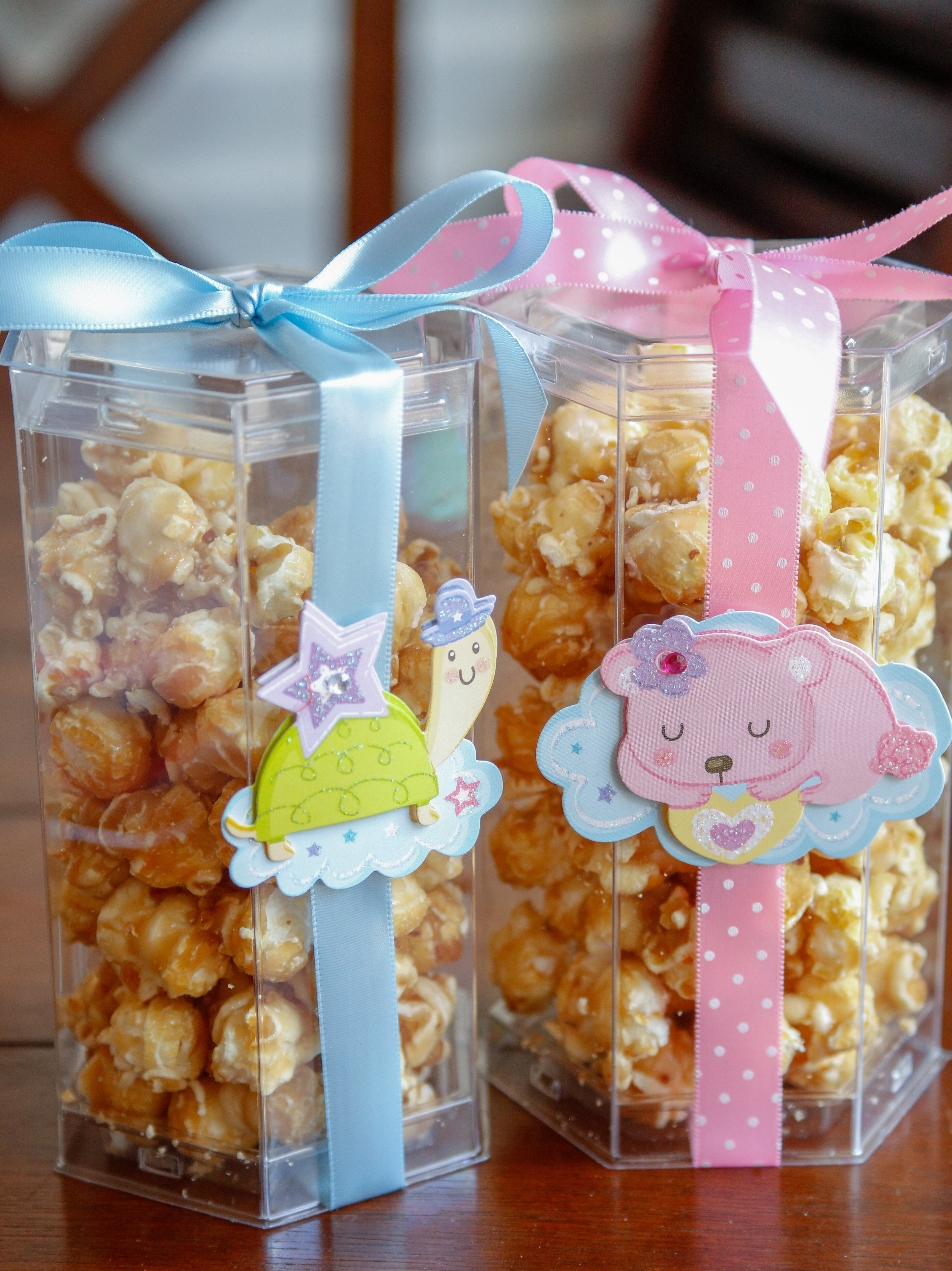 Popcorn baby shower favor idea #ad @clearbags