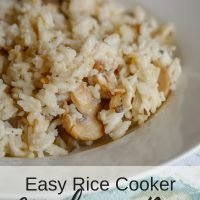 Easy Rice Cooker Mushroom Rice Recipe