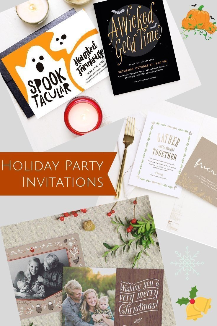 Check out some Basic Invite's Halloween, Thanksgiving, and Christmas party invitations for your upcoming parties. [sponsored]