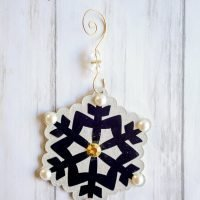 Modern Snowflake DIY Christmas Ornaments
