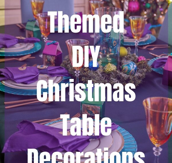 Peacock themed DIY Christmas Table Decorations #ad #Cricut