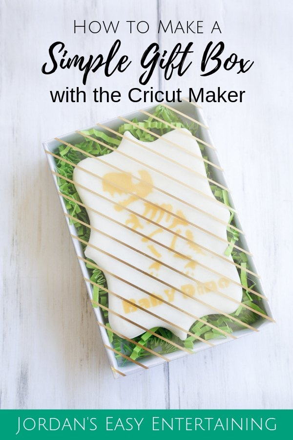 Learn how to make a simple gift box using your Cricut Maker  - Paper crafts | diy party favor | baby shower ideas #CricutMade #ad