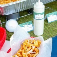 Curly Fries with Cucumber Wasabi Ranch Dipping Sauce