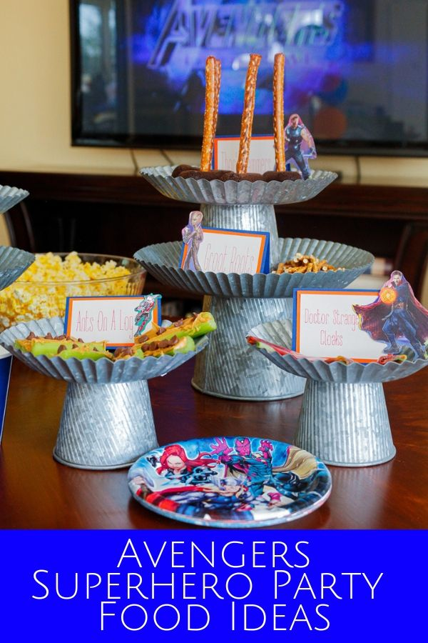 Avengers superhero party food ideas for a family movie night