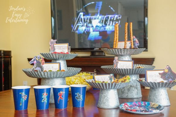 superhero party foods for an Avengers Endgame family movie night