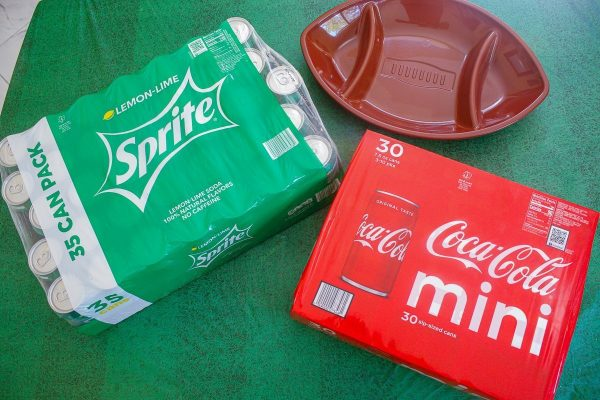 packs of mini Coca-Cola and Sprite from Sam's Club