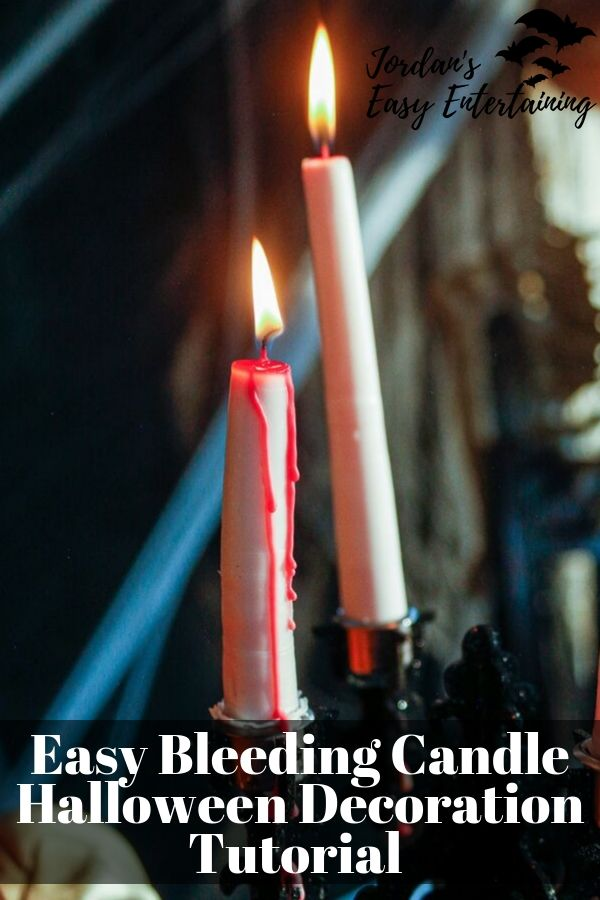 One of the easiest Halloween diy projects you can make this year - diy bleeding candles