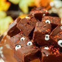 Easy Dark Chocolate Fudge Halloween sweet treat recipe