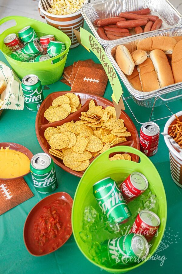 a football party full of game day ideas