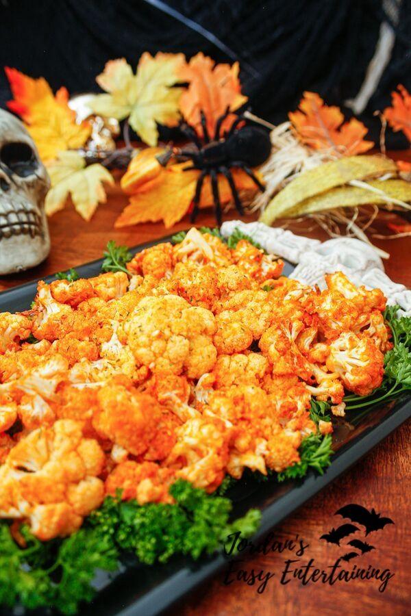 Halloween Parties Buffalo 2020 Spicy Buffalo Cauliflower Healthy Halloween Party Appetizer Recipe
