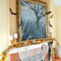 Spooky Fireplace Mantel Halloween Home Decoration Ideas