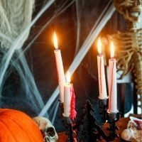 Easy Bleeding Candle Halloween Decoration tutorial